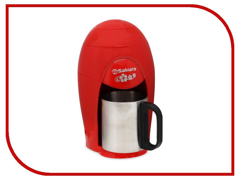 Кофеварка Sakura SA-6106R 150ml Red термопот sakura sa 334rs steel red page 6
