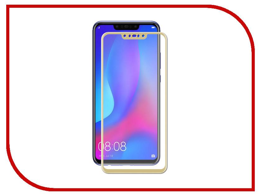 Аксессуар Защитное стекло для Huawei Nova 3 ZibelinoTG Full Screen Gold ZTG-FS-HUA-NOV3-GLD аксессуар защитное стекло huawei nova aksberry