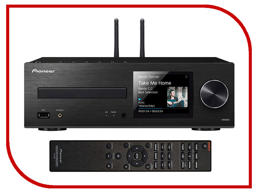 CD-проигрыватель Pioneer XC-HM86D-B new original xc e8ad updated to xc e8ad h 14bit 8 ai plc expansion modules