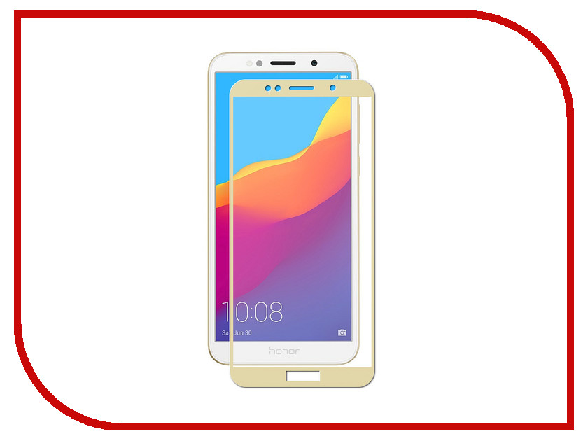 Аксессуар Защитное стекло для Huawei Honor 7A ZibelinoTG Full Screen Gold ZTG-FS-HUA-7A-GLD lcd screen display touch digitizer with frame for huawei honor 7i not for honor 7 blue or white or gold free shipping