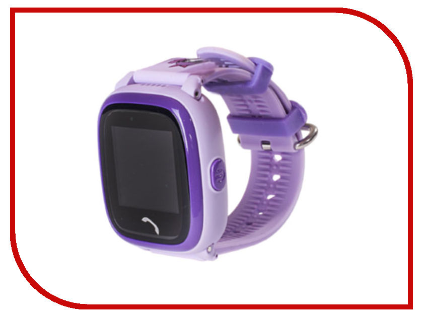 Smart Baby Watch W9 Purple heart shaped purple keychain watch