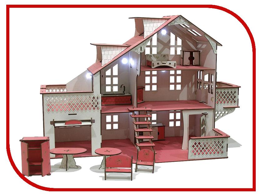 Кукольный домик Iwoodplay 85x35x70cm со светом igkd-03-01 кукольный домик iwoodplay 26x45x32cm с эркерами igkd 02 01