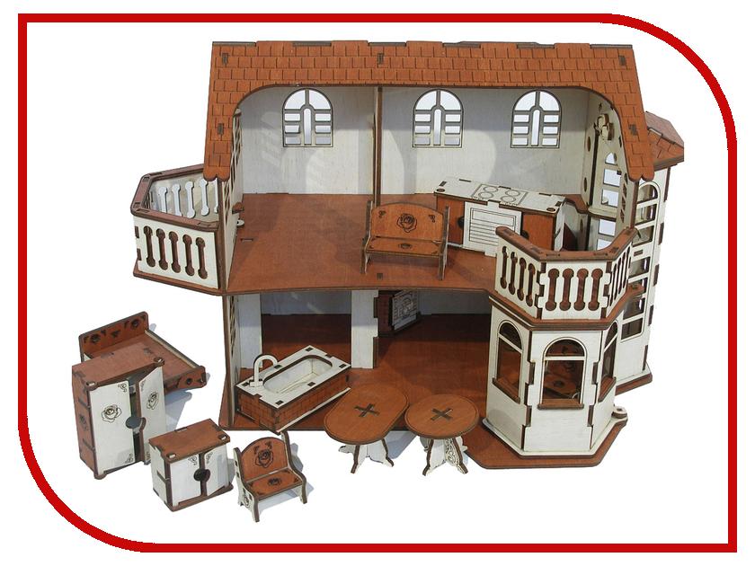 Кукольный домик Iwoodplay 26x45x32cm с эркерами igkd-02-01