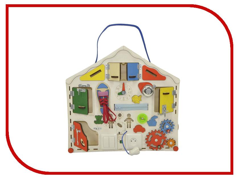 Бизиборд Iwoodplay Домик с электрикой 55x52x11cm кукольный домик iwoodplay 26x45x32cm с эркерами igkd 02 01