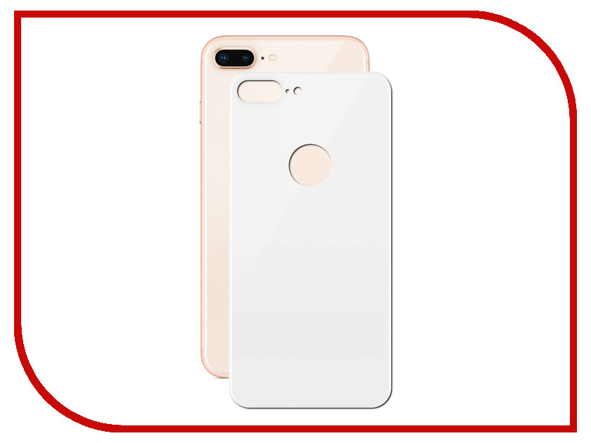 Аксессуар Защитное стекло Solomon 2.5D Full Cover Back White для APPLE iPhone 8 Plus 2124 new luxury tpu leather back case cover for iphone 6 plus red
