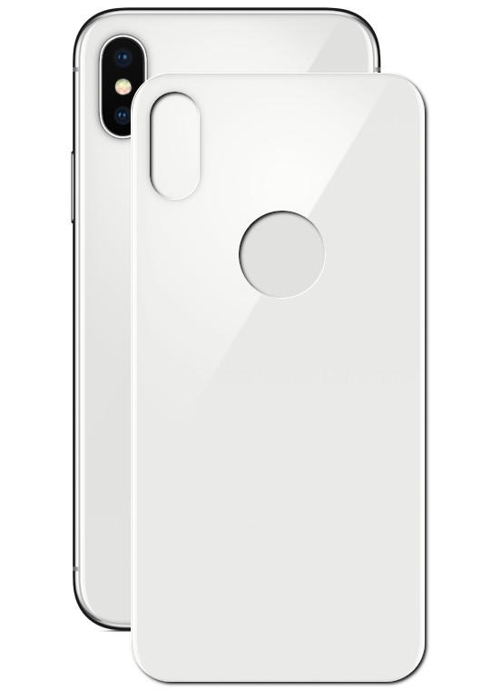 Аксессуар Защитное стекло Solomon для APPLE iPhone X 2.5D Full Cover Back White 2223 аксессуар защитное стекло для apple iphone 8 solomon 2 5d full cover back black 2087