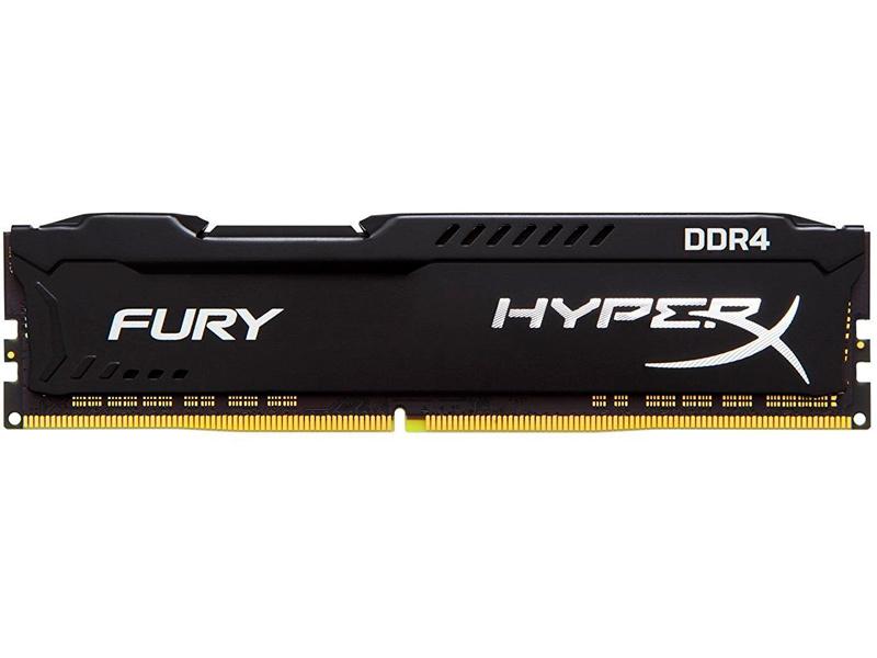 Модуль памяти Kingston HyperX Fury Black DDR4 DIMM 3466MHz PC-27700 CL19 - 8Gb HX434C19FB2/8 оперативная память kingston hyperx fury hx434c19fr2 8 dimm 8gb ddr4 3466mhz dimm 288 pin pc 27700 cl19