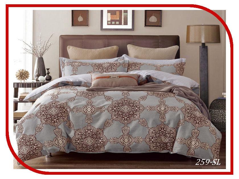 Постельное белье Cleo Satin Lux 31/259-SL Комплект Евро Сатин постельное белье экзотика кензо комплект евро сатин
