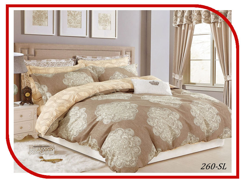 Постельное белье Cleo Satin Lux 31/260-SL Комплект Евро Сатин