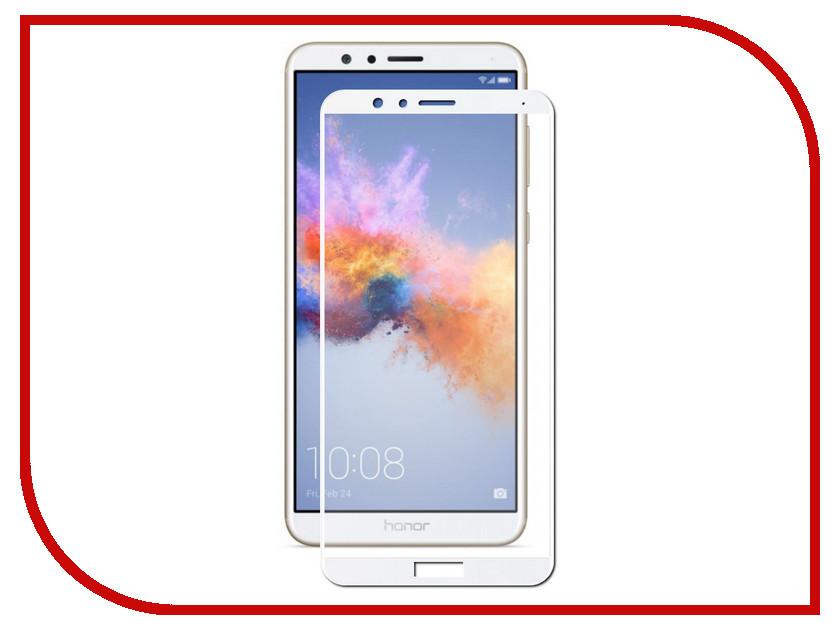 Аксессуар Защитное стекло для Huawei Honor 7X Solomon 2.5D Full Cover White 2599 цена и фото