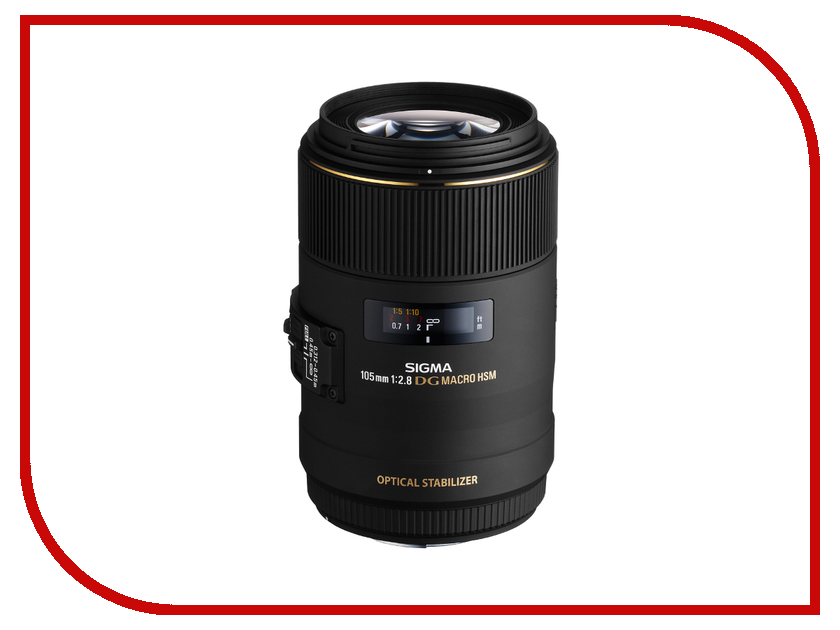 Объектив Sigma Nikon AF 105 mm F/2.8 EX DG OS HSM Macro sigma sigma 100 400mm f5 6 3 dg os hsm contemporary полнокадровой телефото зум объектив для съемки птиц лотоса nikon байонет объектива page 3