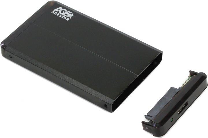 Внешний корпус AgeStar 3UB2O8 / 3UB2O8-6G мобил рек agestar 3ub2o8 usb 3 0 to 2 5hdd sata алюминий