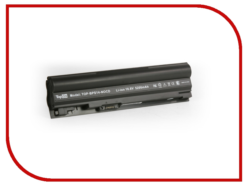 Аккумулятор TopON TOP-BPS14-NOCD 5200 mAh for Sony VAIO VGN-TT1 / VGN-TT2 / VGN-TT3 / VGN-TT4 / VGN-TT5 / VGN-TT7 / VGN-TT9 Series new us laptop keyboard for sony vaio svf1521p1r keyboard with frame palmrest touchpad cover