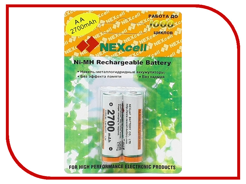 ����������� AA - NEXcell 2700 mAh Ni-MH (2 �����) AA2700/2pack