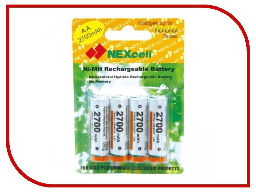 Аккумулятор AA - NEXcell 2700 mAh Ni-MH (4 штуки) AA2700/4pack<br>