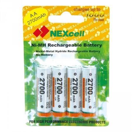 Аккумулятор AA - NEXcell 2700 mAh Ni-MH (4 штуки) AA2700/4pack