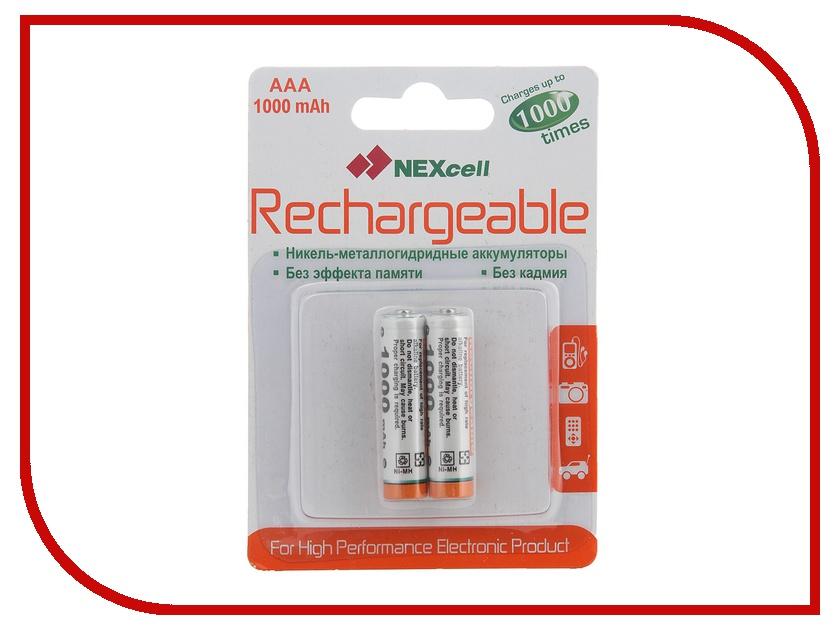 Аккумулятор AAA - NEXcell 1000 mAh Ni-MH (2 штуки) AAA1000/2pack<br>