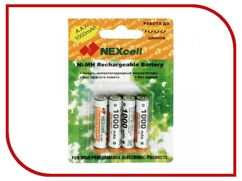 Аккумулятор AAA - NEXcell 1000 mAh Ni-MH (4 штуки) AAA1000/4pack