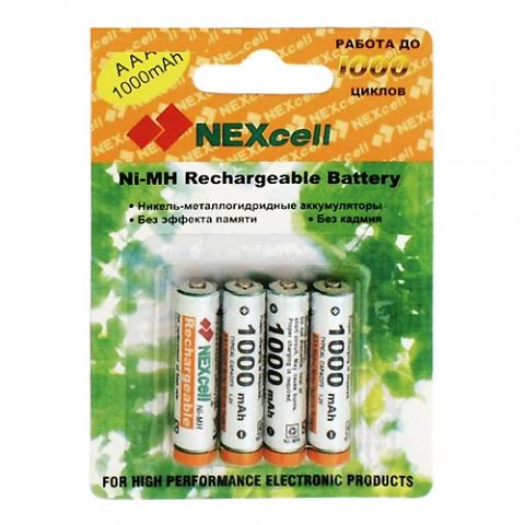 Аккумулятор AAA - NEXcell 1000 mAh Ni-MH (4 штуки) AAA1000/4pack от Pleer