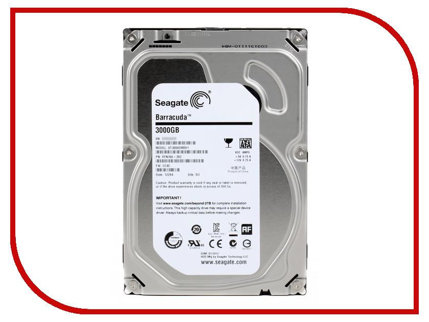 Жесткий диск 3Tb - Seagate ST3000DM001 Barracuda<br>