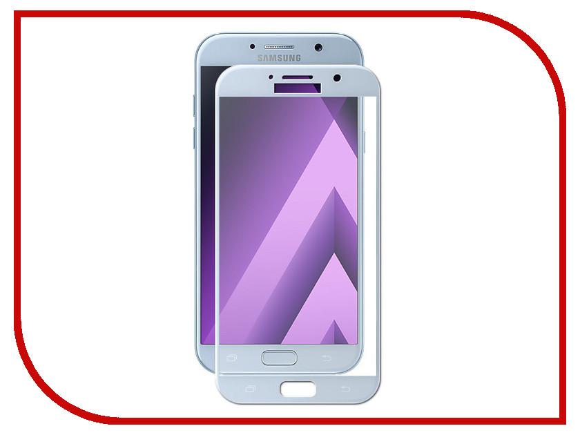 Аксессуар Защитное стекло для Samsung Galaxy A7 2017 Solomon 2.5D Full Cover Light-Blue 1684 аксессуар защитное стекло для samsung galaxy a7 2016 sm a710f solomon