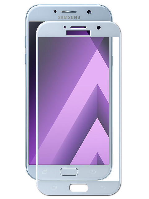 Аксессуар Защитное стекло для Samsung Galaxy A7 2017 Solomon 2.5D Full Cover Light-Blue 1684 аксессуар защитное стекло samsung galaxy a3 2016 sm a310f solomon full cover pink