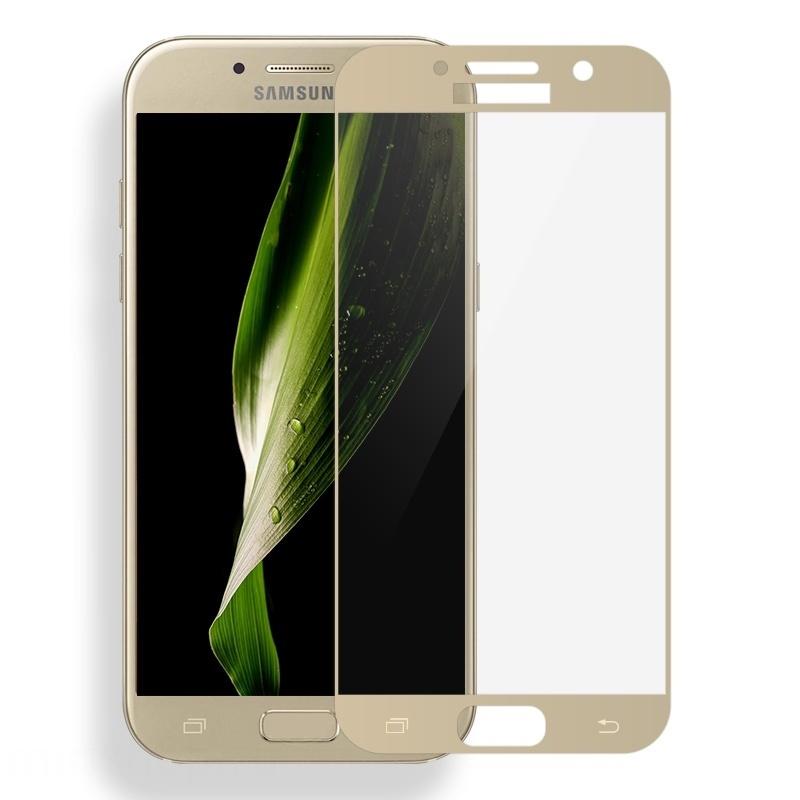 Аксессуар Защитное стекло для Samsung Galaxy A7 2017 Solomon 2.5D Full Cover Gold 1691 аксессуар защитное стекло для samsung galaxy a5 2016 sm a510f solomon full cover black
