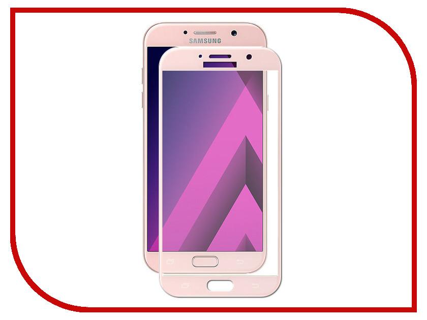 Аксессуар Защитное стекло для Samsung Galaxy A7 2017 Solomon 2.5D Full Cover Pink 1677 аксессуар защитное стекло samsung galaxy a3 2016 sm a310f solomon full cover pink
