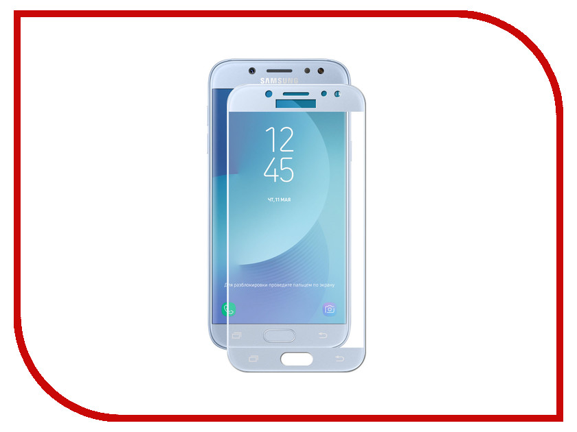 Аксессуар Защитное стекло для Samsung Galaxy J7 2017 Solomon 2.5D Full Cover Blue 3909 redmond rfp 3909
