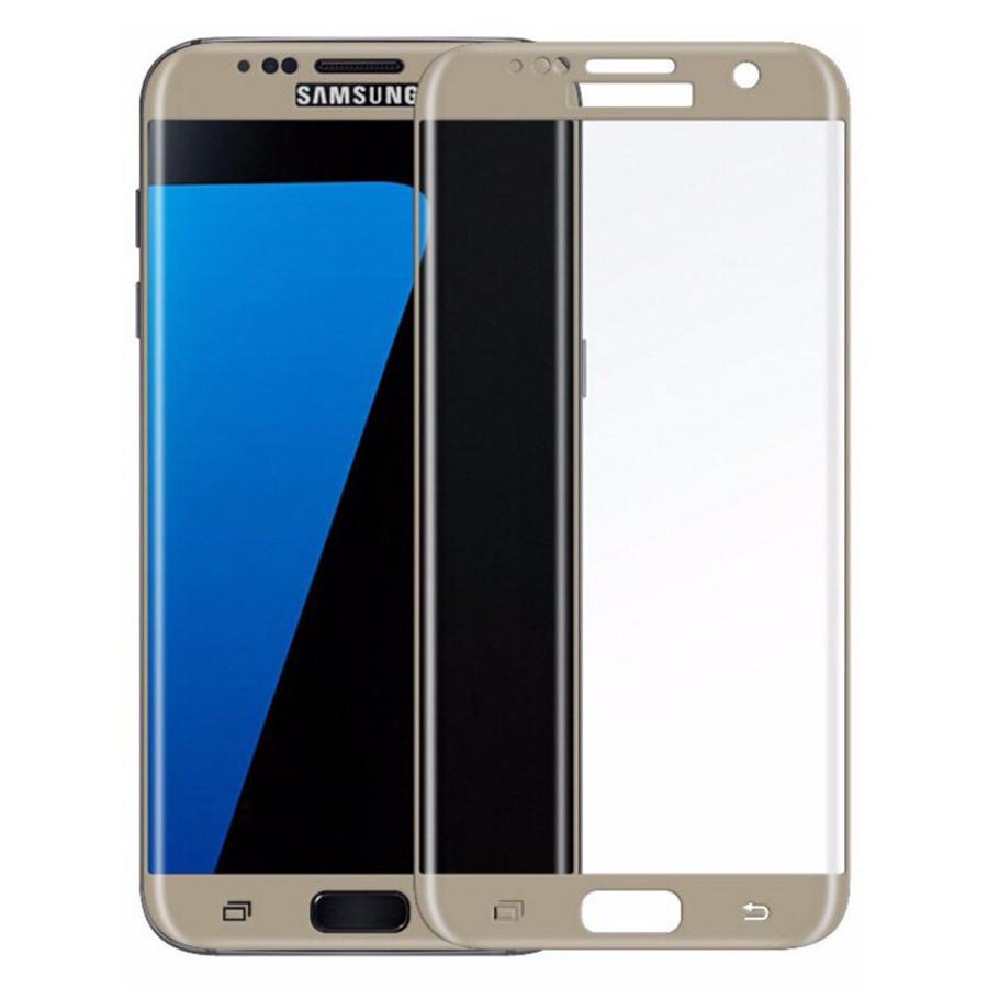 Аксессуар Защитное стекло для Samsung Galaxy S7 Solomon 2.5D Full Cover Gold 7972 аксессуар противоударное стекло для samsung galaxy j8 2018 innovation 2d full glue cover gold 12814