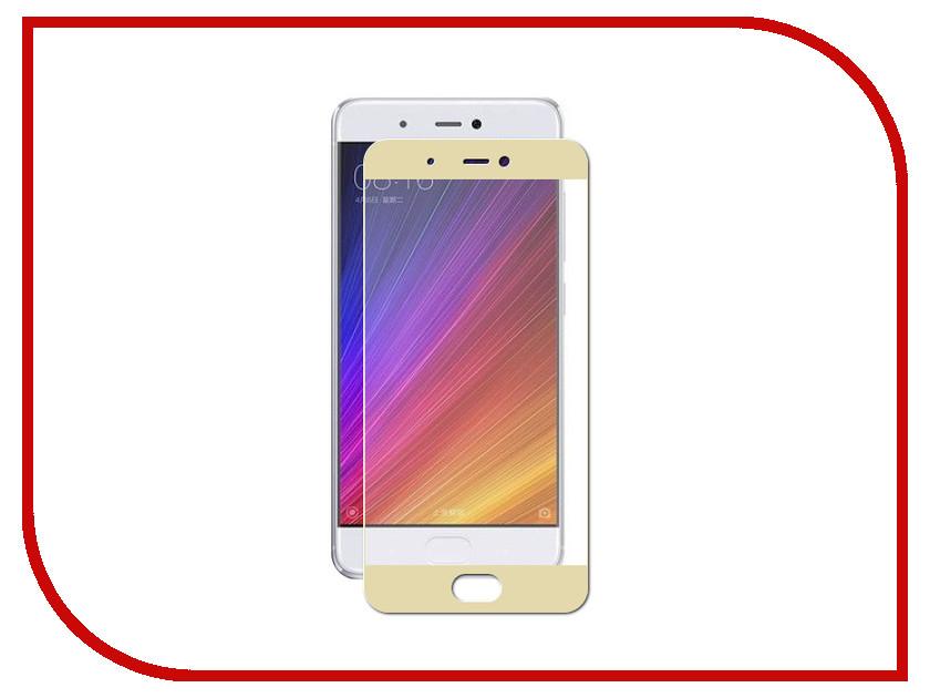 Аксессуар Защитное стекло для Xiaomi Mi5S Solomon Full Cover Gold 9754 аксессуар защитное стекло sony xperia m4 aqua solomon