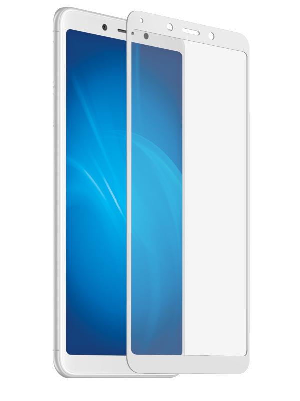 Аксессуар Защитное стекло Solomon для Xiaomi Redmi 6 Full Cover White 4043 аксессуар противоударное стекло для xiaomi redmi 4x innovation 2d full glue cover white 12721