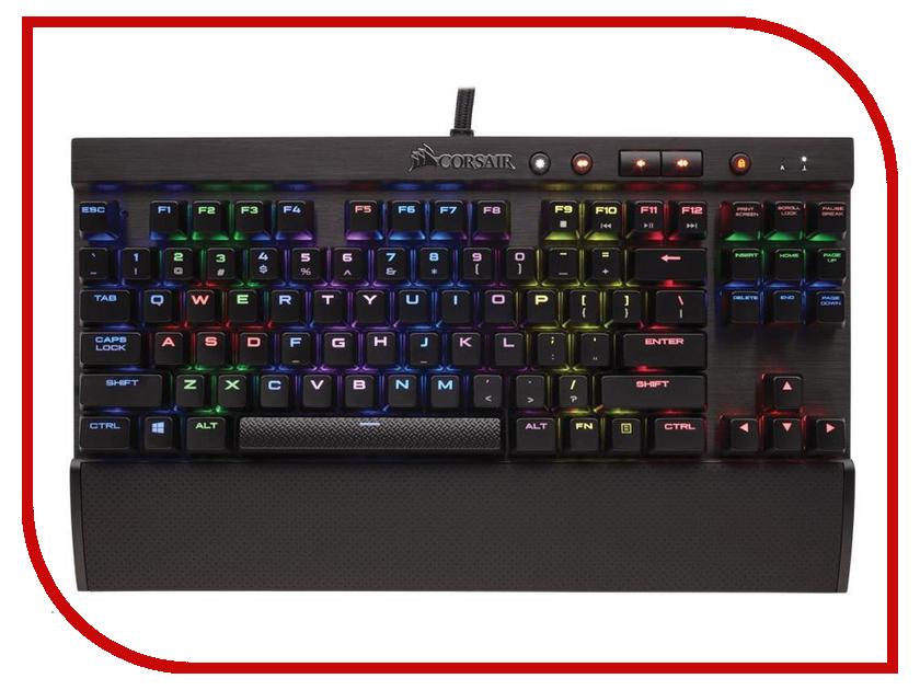 Клавиатура Corsair K70 LUX RGB Cherry MX Silent CH-9101013-RU клавиатура проводная corsair gaming k68 rgb cherry mx red usb черный ch 9102010 ru