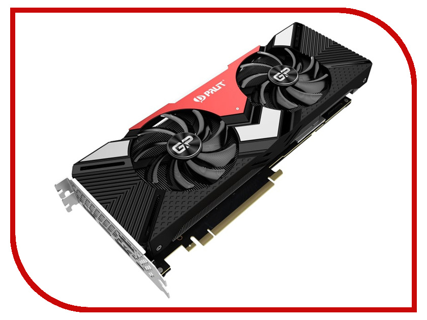 Видеокарта Palit GeForce RTX 2080 Gaming Pro OC 1515Mhz PCI-E 3.0 8192Mb 14000Mhz 256 bit HDMI 3xDP NE62080S20P2-180A e blue ems618 wired gaming mouse white