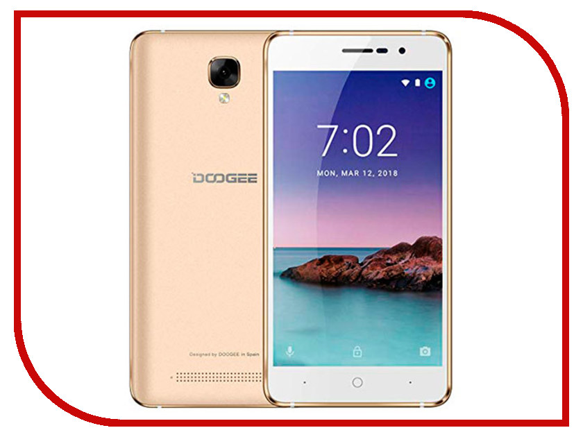 Сотовый телефон DOOGEE X10S Gold сотовый телефон doogee x70 gold