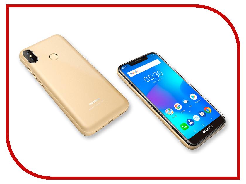 Сотовый телефон DOOGEE X70 Gold сотовый телефон doogee x6s white