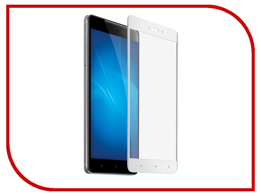 Аксессуар Защитное стекло для Xiaomi Redmi 4X Krutoff Full Screen White 02563 naxtop 1pc screen film for xiaomi redmi note 4x 4gb 64gb high version