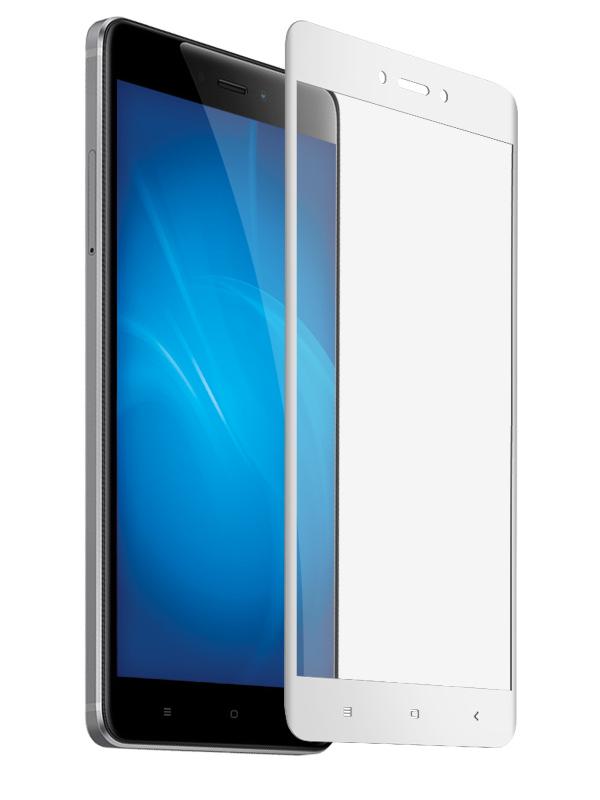 Аксессуар Защитное стекло Krutoff для Xiaomi Redmi 4X Full Screen White 02563 аксессуар стекло защитное для xiaomi redmi note 4x krutoff full screen white 02528