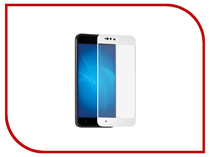 Аксессуар Защитное стекло для Xiaomi Mi A1 / Redmi 5X Krutoff Full Screen White 02571 аксессуар защитное стекло для xiaomi mi a2 lite redmi 6 pro svekla full screen gold zs svximia2l fsgold