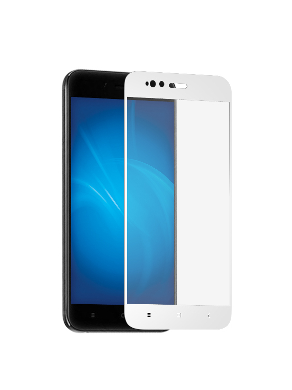 Аксессуар Защитное стекло Krutoff для Xiaomi Mi A1 / Redmi 5X Full Screen White 02571 защитное стекло pero full screen для xiaomi mi a1 5x белое