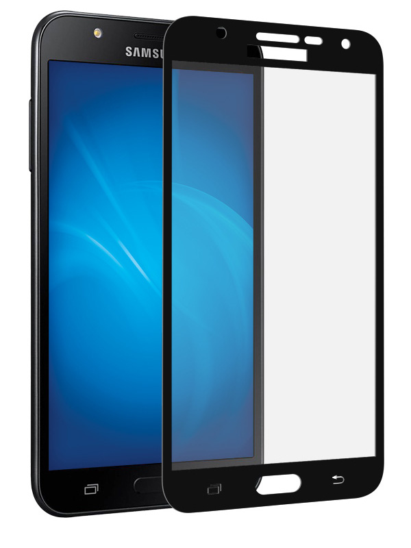 Аксессуар Защитное стекло Krutoff Full Screen для Samsung Galaxy J7 Neo SM-G701F Black 02559 защитное стекло для samsung galaxy j7 neo sm j701f onext
