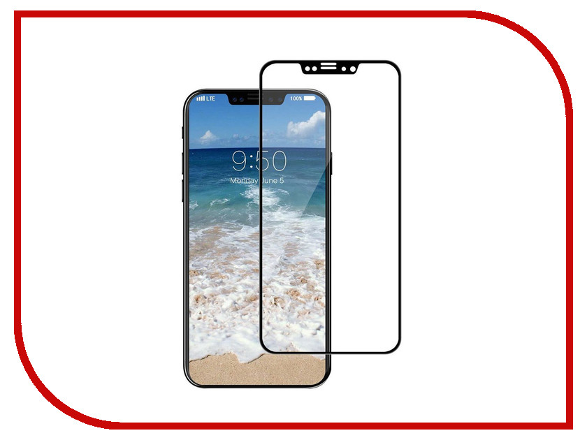 Аксессуар Защитное стекло Krutoff Full Screen для APPLE iPhone X Black 02615 black new 7 85 inch regulus 2 itwgn785 tablet touch screen panel digitizer glass sensor replacement free shipping