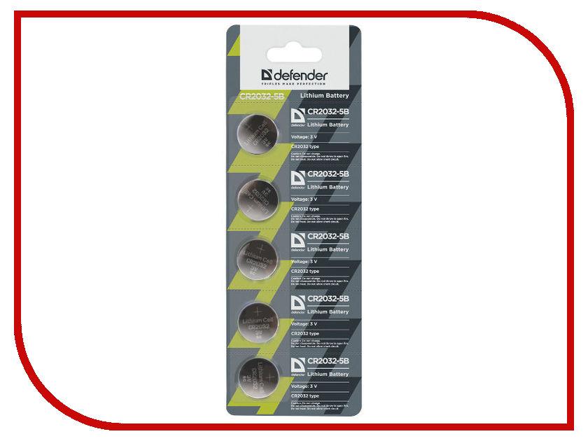 Батарейка CR2032 - Defender CR2032-5B (5 штук) 56201 5pcs battery holder bs 5 cr2032 holder