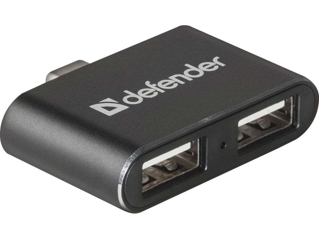 Хаб USB Defender Quadro Dual 3.1 Type-C - 2.0 2-ports 83207