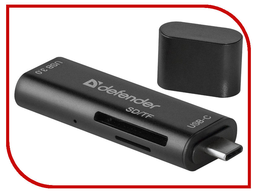 Карт-ридер Defender Speed Stick USB 3.1 Type-C - USB/SD/TF 83205 mingsford 8g 16g 64g 128g high speed micro sd tf storage card