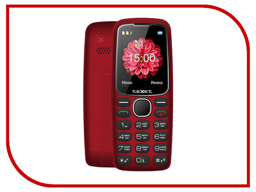 Сотовый телефон teXet TM-B307 Red texet tm b117