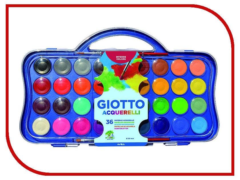 Акварель Giotto Colour Blocks 36 цветов 353600 giotto акварель полусухая глиттер 8 цветов кисточка 331200