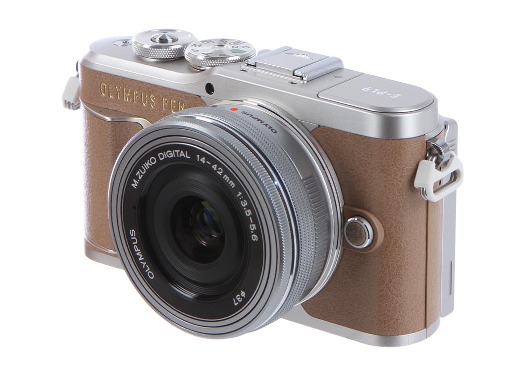 Фотоаппарат Olympus Pen E-PL9 Kit 14-42 mm F/3.5-5.6 EZ Brown-Silver фотоаппарат olympus pen e pl9 kit 14 42 mm f 3 5 5 6 ez black silver