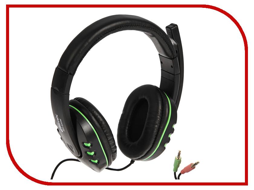 Ritmix RH-555M Gaming Black-Green weyes ms 929 wired 6 key usb 2 0 800 1000 1600 2400dpi optical gaming mouse black green