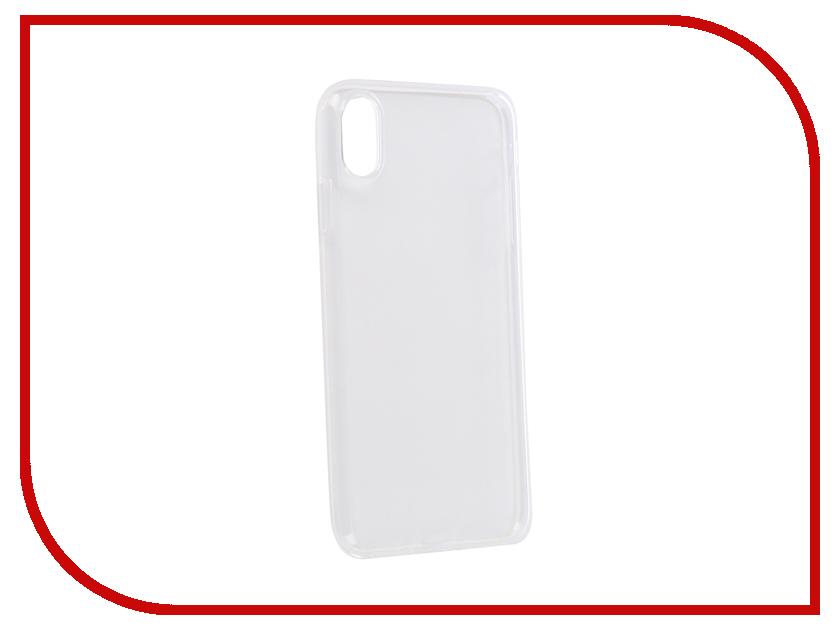 Аксессуар Чехол для APPLE iPhone XS Max iBox Crystal Silicone Transparent УТ000016103 аксессуар чехол microsoft lumia 550 ibox crystal transparent